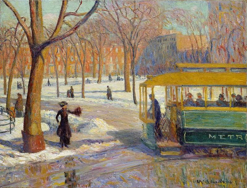William Glackens - The Green Car. Metropolitan Museum: part 3