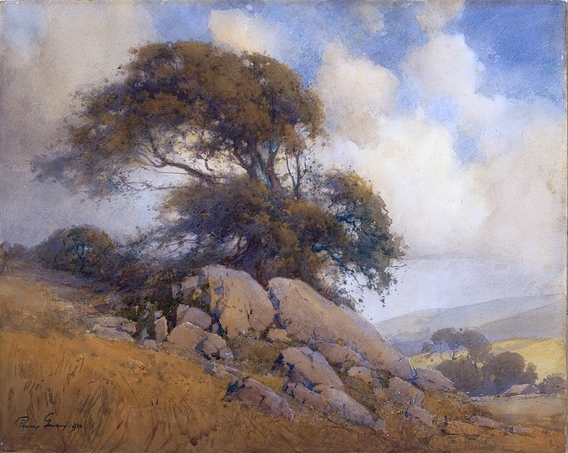Percy Gray - Windswept Tree and Rocks. Metropolitan Museum: part 3