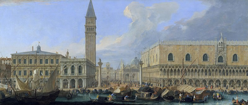 Luca Carlevaris - The Molo, Venice, from the Bacino di San Marco. Metropolitan Museum: part 3
