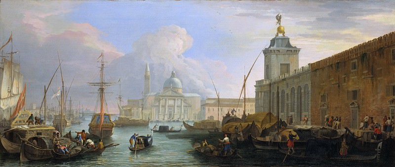 Luca Carlevaris - The Bacino, Venice, with the Dogana and a Distant View of the Isola di San Giorgio. Metropolitan Museum: part 3
