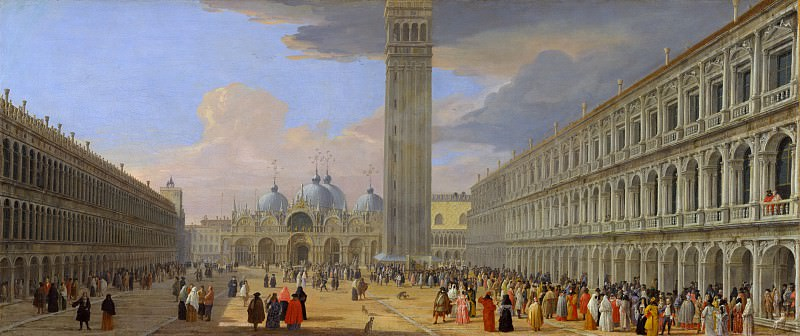 Luca Carlevaris - Piazza San Marco, Venice. Metropolitan Museum: part 3