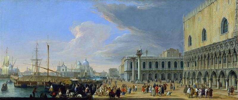Luca Carlevaris - The Molo, Venice, Looking West. Metropolitan Museum: part 3