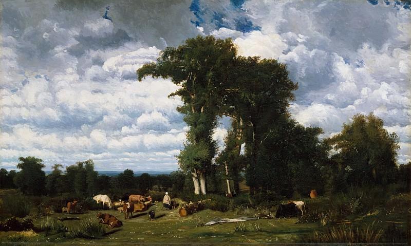 Жюль Дюпре - Пейзаж с крупным рогатым скотом в Лимузене. Музей Метрополитен: часть 3