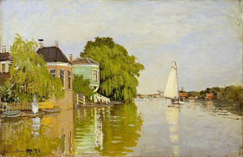 Claude Monet - Houses on the Achterzaan. Metropolitan Museum: part 3