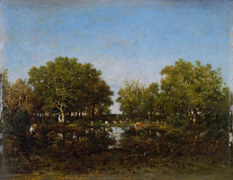 Théodore Rousseau - The Pool (Memory of the Forest of Chambord). Metropolitan Museum: part 3