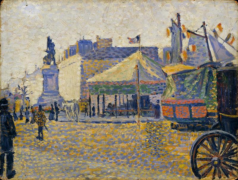 Paul Signac - Place de Clichy. Metropolitan Museum: part 3