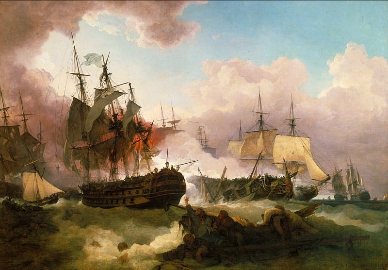 Phillip James De Loutherbourg - The Battle of Camperdown. Tate Britain (London)