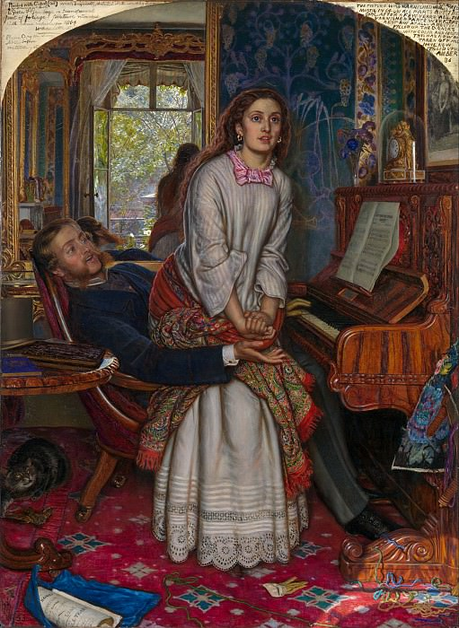 William Holman Hunt - The Awakening Conscience. Tate Britain (London)