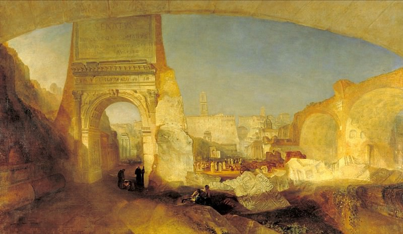 Joseph Mallord William Turner - Forum Romanum. Tate Britain (London)