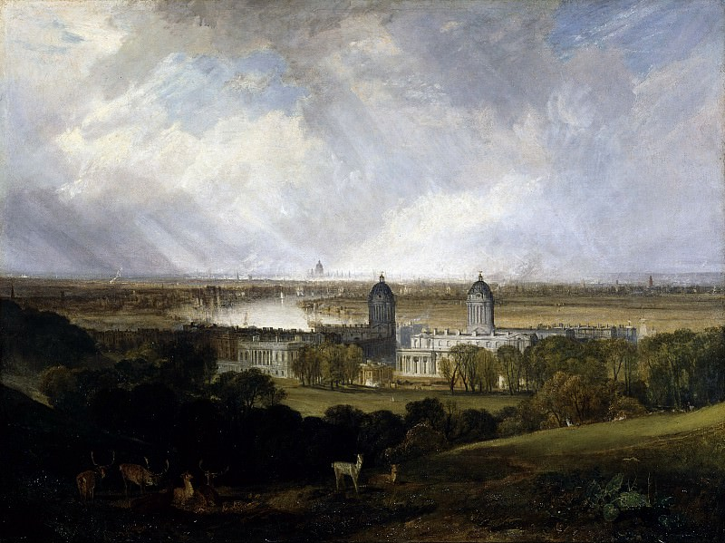 Joseph Mallord William Turner - London from Greenwich Park exhibited. Tate Britain (London)