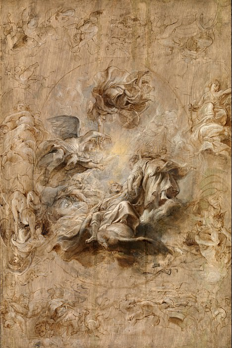 Sir Peter Paul Rubens - Multiple Sketch for the Banqueting House Ceiling. Tate Britain (London)