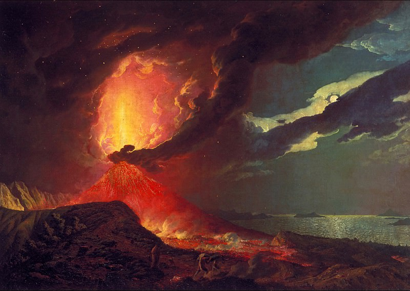 Joseph Wright of Derby - Vesuvius in Eruption, with a View over the Islands in the Bay of Naples. Tate Britain (London)