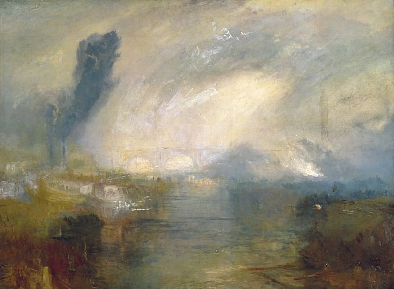 Joseph Mallord William Turner - The Thames above Waterloo Bridge. Tate Britain (London)