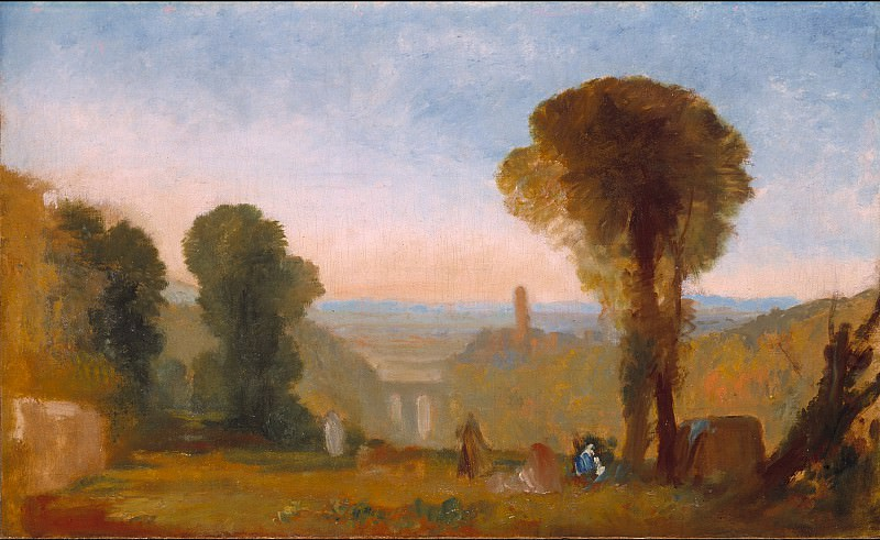 Joseph Mallord William Turner - Italian Landscape with Bridge and Tower. Tate Britain (London)