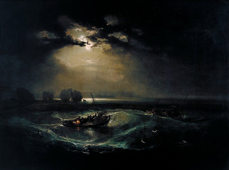Тёрнер, Уильям Джозеф Мэллорд - Рыбаки в море. Тейт Британ (Лондон)