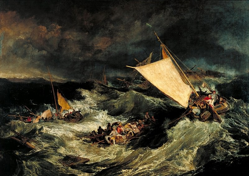 Joseph Mallord William Turner - The Shipwreck. Tate Britain (London)