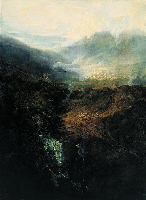 Joseph Mallord William Turner - Morning amongst the Coniston Fells, Cumberland. Tate Britain (London)