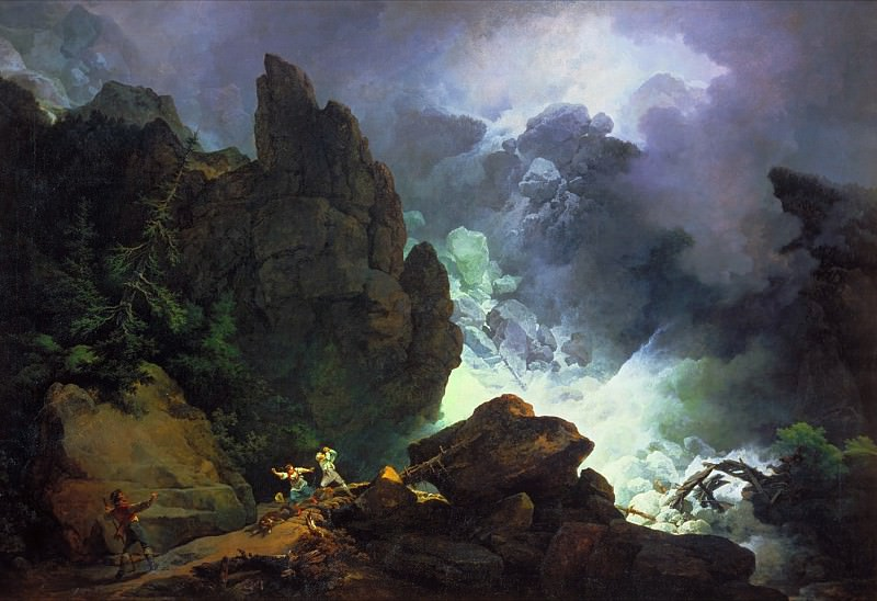 Phillip James De Loutherbourg - An Avalanche in the Alps. Tate Britain (London)