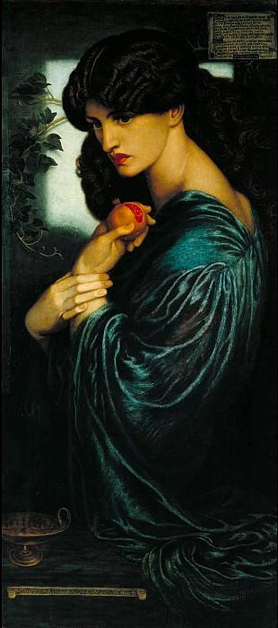 Dante Gabriel Rossetti - Proserpine. Tate Britain (London)