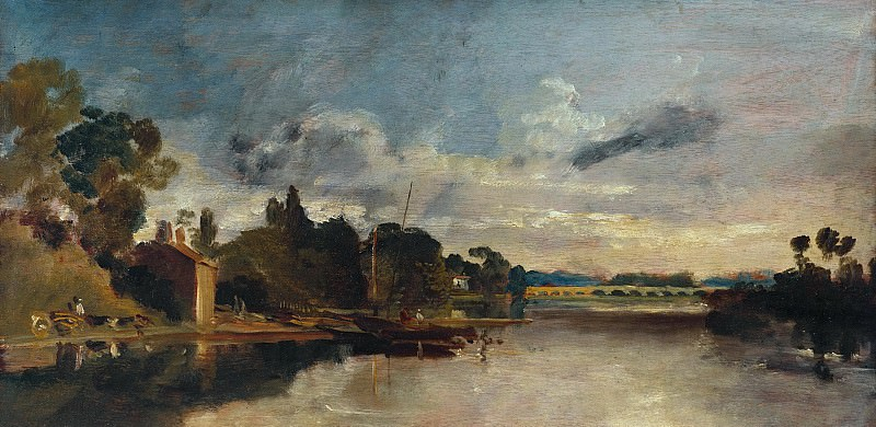 Joseph Mallord William Turner - The Thames near Walton Bridges. Tate Britain (London)