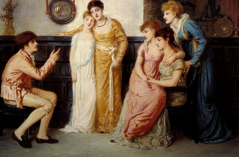 Simeon Solomon - A Youth Relating Tales to Ladies. Tate Britain (London)