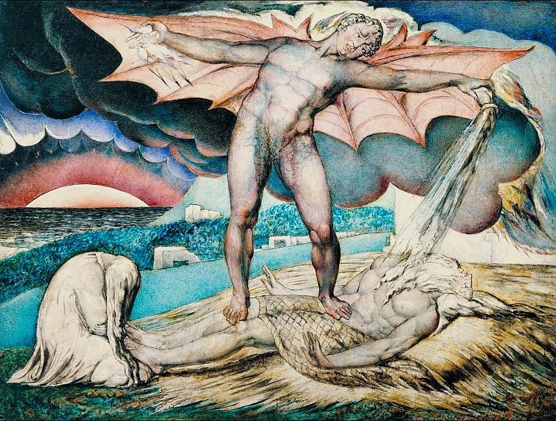 William Blake - Satan Smiting Job with Sore Boils. Tate Britain (London)