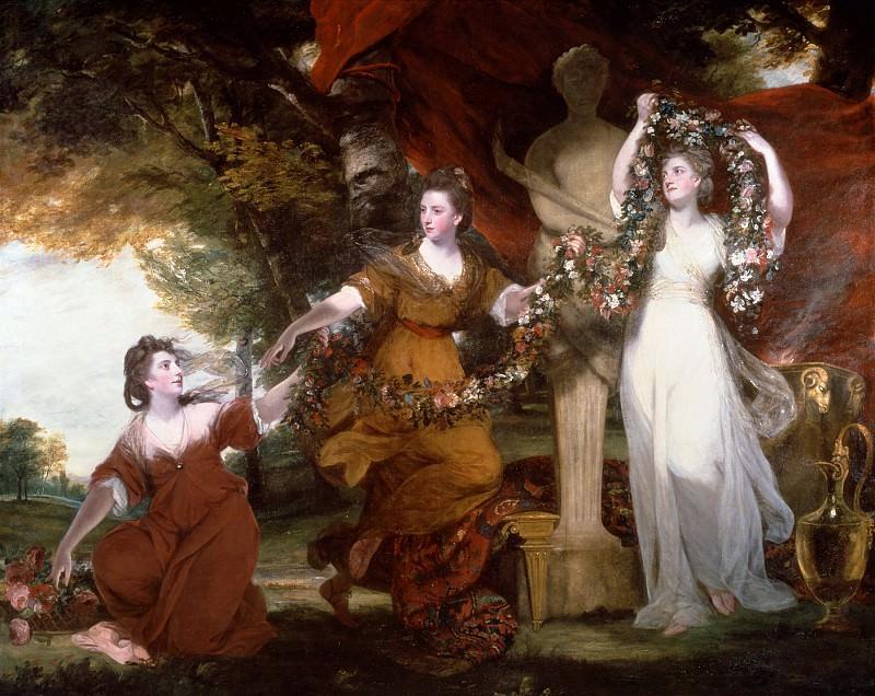 Sir Joshua Reynolds - Three Ladies Adorning a Term of Hymen. Tate Britain (London)