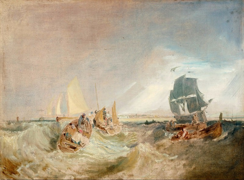 Joseph Mallord William Turner - Shipping at the Mouth of the Thames. Tate Britain (London)