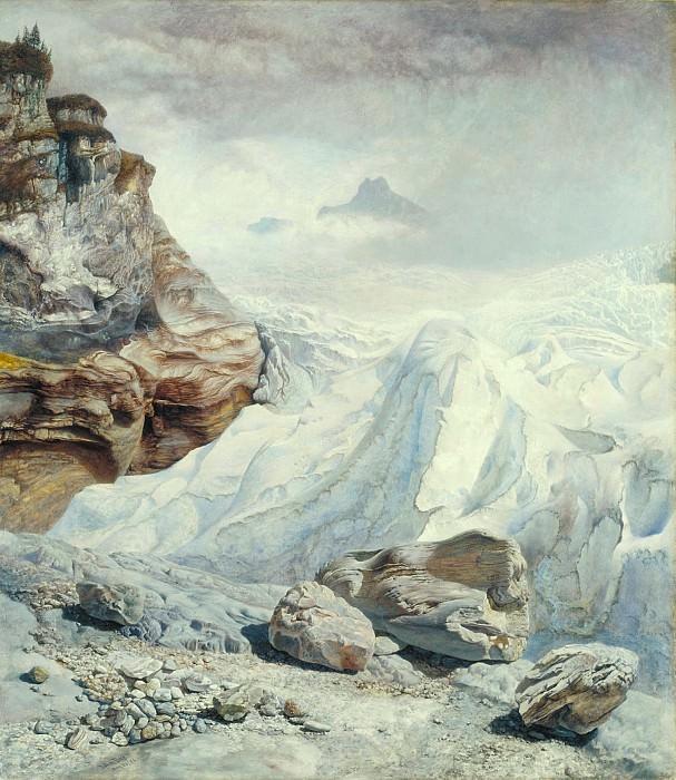John Brett - Glacier of Rosenlaui. Tate Britain (London)