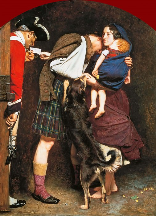 Sir John Everett Millais - The Order of Release 1746. Tate Britain (London)