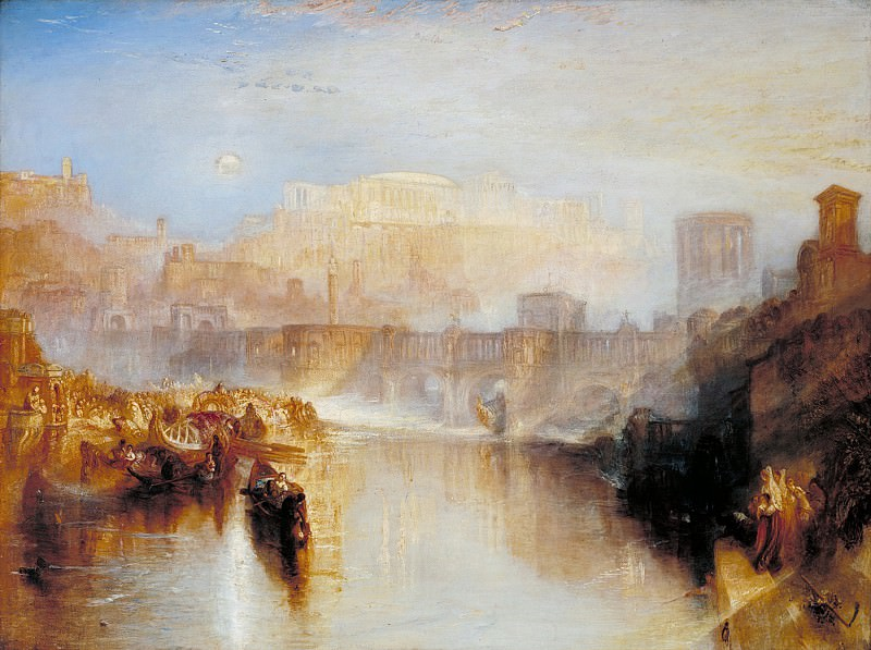 Joseph Mallord William Turner - Ancient Rome; Agrippina Landing with the Ashes of Germanicus. Tate Britain (London)
