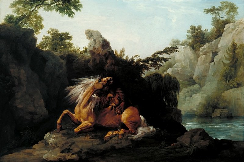 George Stubbs - Horse Devoured by a Lion. Tate Britain (London)