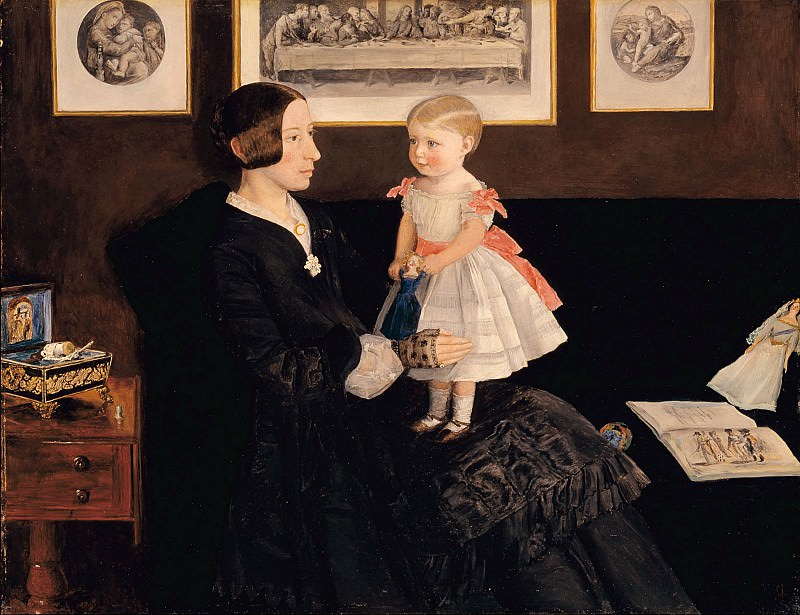 Sir John Everett Millais - Mrs James Wyatt Jr and her Daughter Sarah. Tate Britain (London)