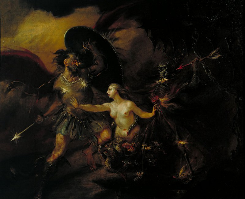 William Hogarth - Satan, Sin and Death (A Scene from Milton's «Paradise Lost»). Tate Britain (London)