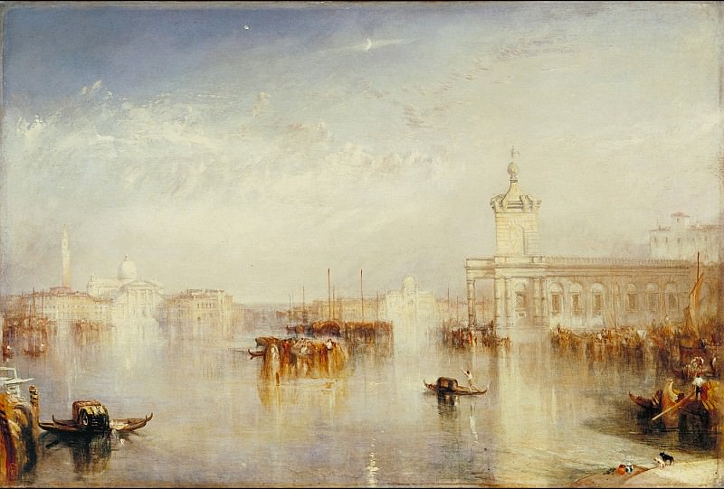 Joseph Mallord William Turner - The Dogano, San Giorgio, Citella, from the Steps of the Europa. Tate Britain (London)