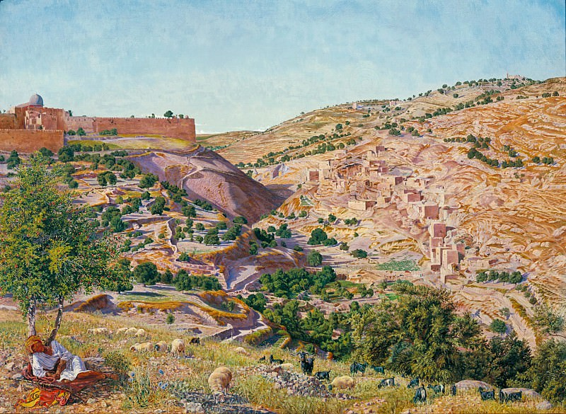 Thomas Seddon - Jerusalem and the Valley of Jehoshaphat from the Hill of Evil Counsel. Tate Britain (London)