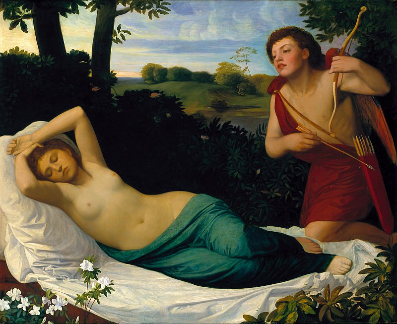 Alphonse Legros - Cupid and Psyche. Tate Britain (London)