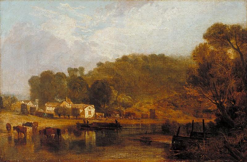 Joseph Mallord William Turner - Cliveden on Thames. Tate Britain (London)