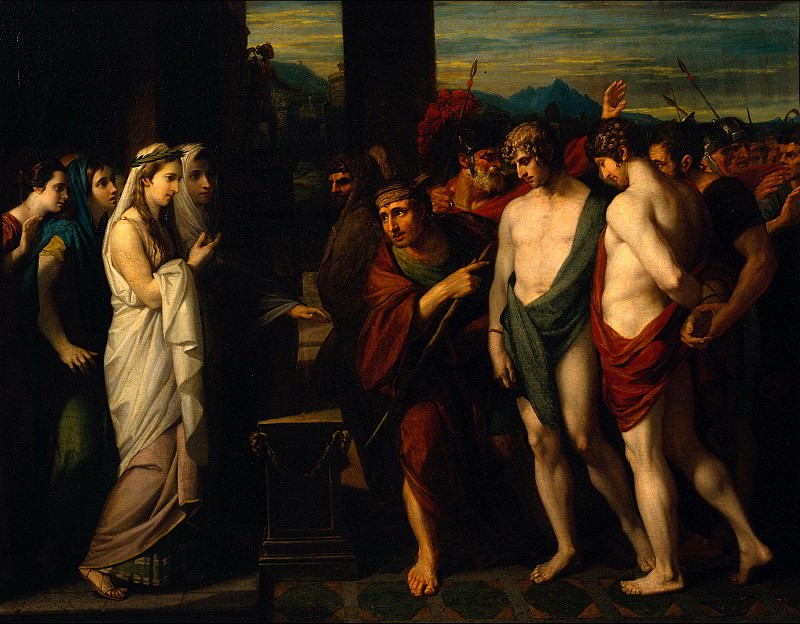 Benjamin West - Pylades and Orestes Brought as Victims before Iphigenia. Tate Britain (London)