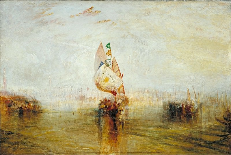 Joseph Mallord William Turner - The Sun of Venice Going to Sea. Tate Britain (London)