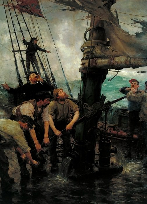 Henry Scott Tuke - All Hands to the Pumps. Tate Britain (London)