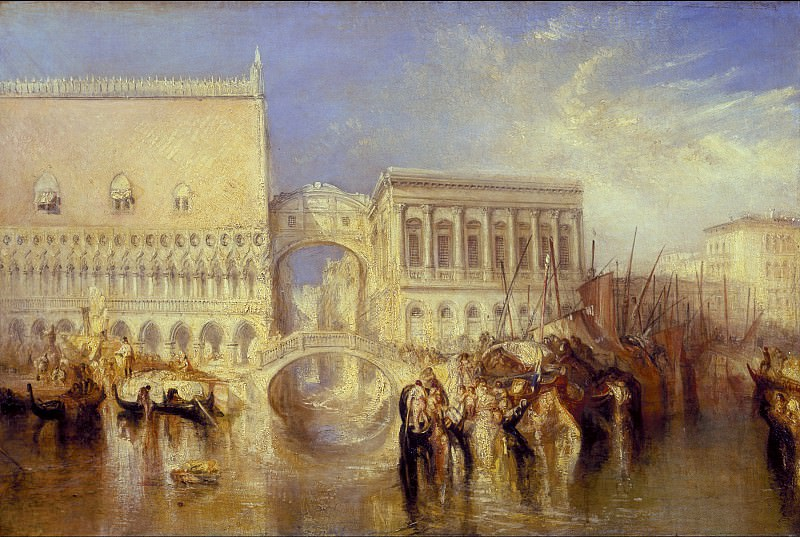 Joseph Mallord William Turner - Venice, the Bridge of Sighs. Tate Britain (London)