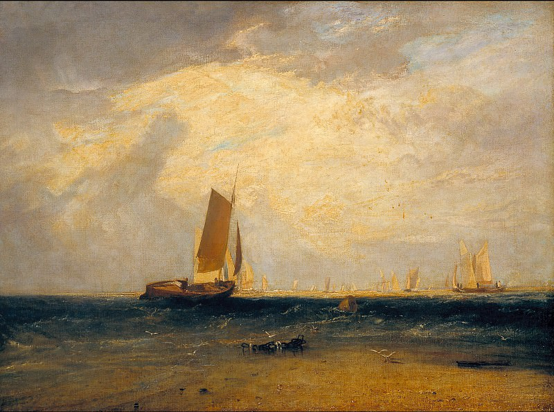 Joseph Mallord William Turner - Fishing upon the Blythe-Sand, Tide Setting In. Tate Britain (London)