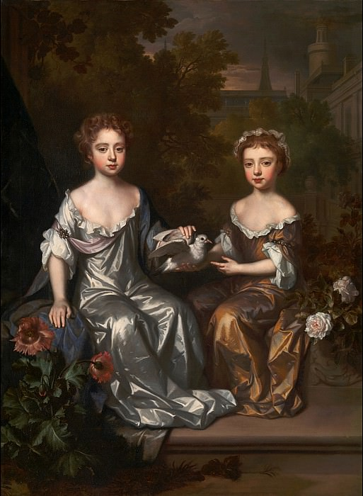 Willem Wissing - Portrait of Henrietta and Mary Hyde. Tate Britain (London)
