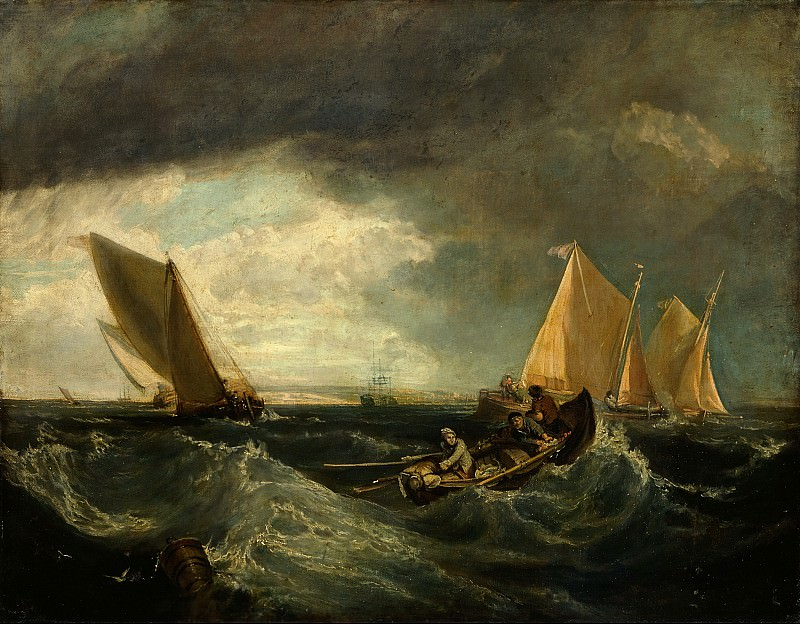 Augustus Wall Callcott - Sheerness and the Isle of Sheppey (after J.M.W. Turner). Tate Britain (London)