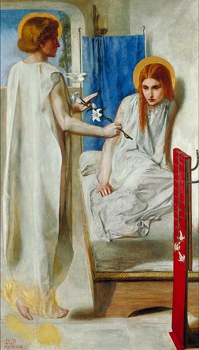 Dante Gabriel Rossetti - The Annunciation. Tate Britain (London)