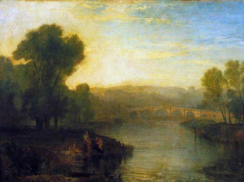 Joseph Mallord William Turner - View of Richmond Hill and Bridge. Tate Britain (London)