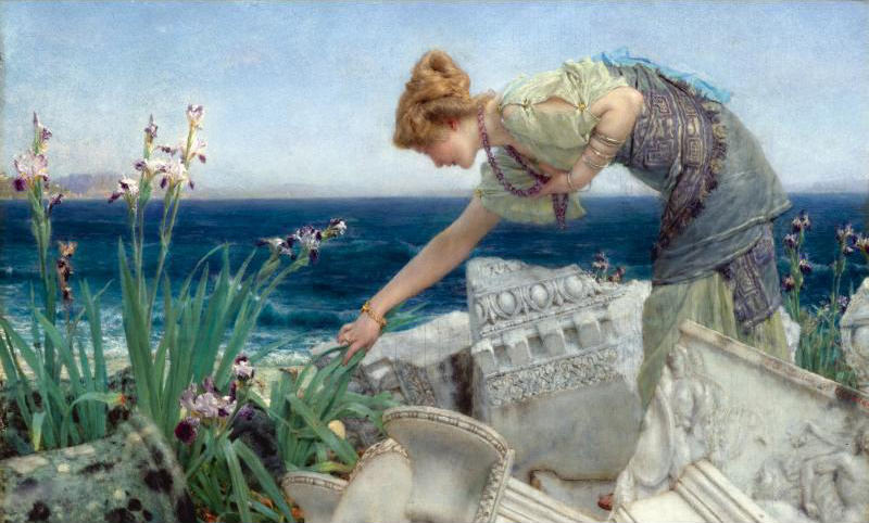 Among the Ruins. Lawrence Alma-Tadema