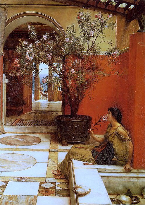 The Oleander. Lawrence Alma-Tadema