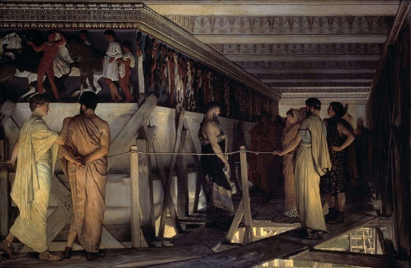Pheidias and the Frieze of the Parthenon. Lawrence Alma-Tadema
